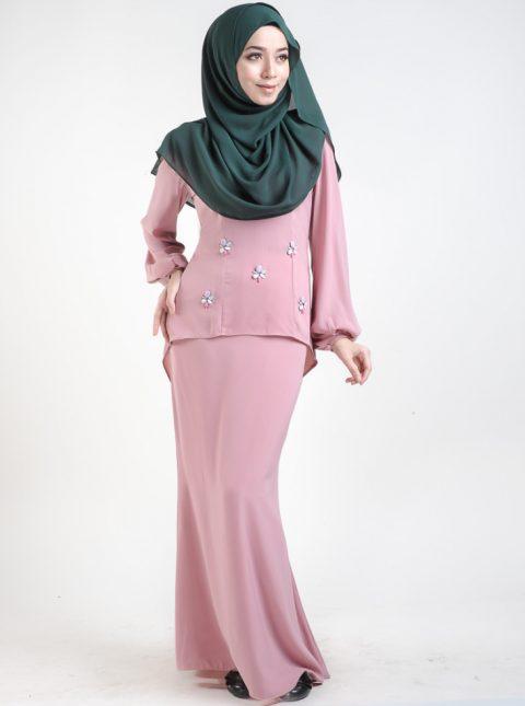 baju kurung moden asyura pink