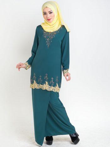 baju kurung moden safiyya green plus size
