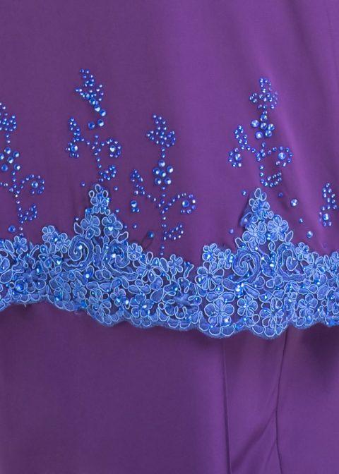 baju kurung moden safiyya purple plus size lace