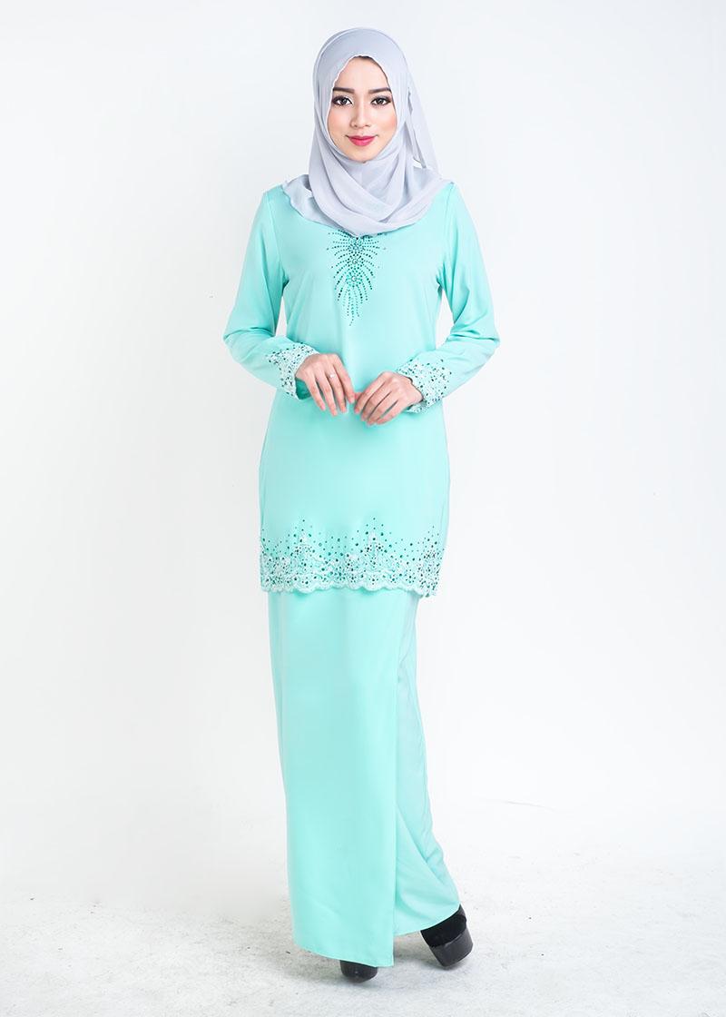 Baju Kurung Moden Lace Sophea - Mint Green d253ec1180