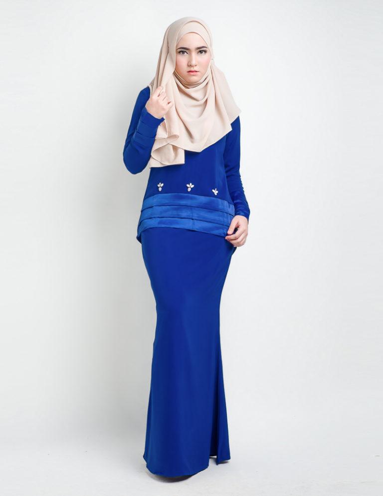 Baju Kurung Royal Blue | 5 statement modern baju kurung
