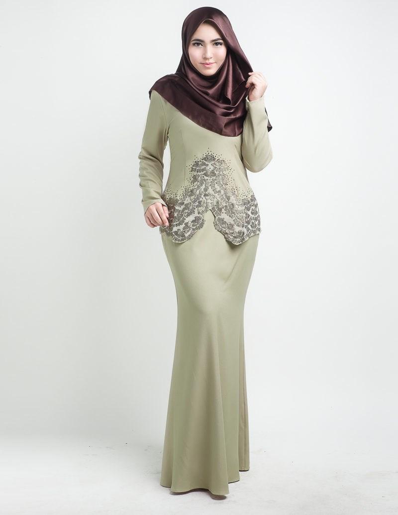 Baju Kurung Moden Potongan Mermaid Hairstylegalleries Com