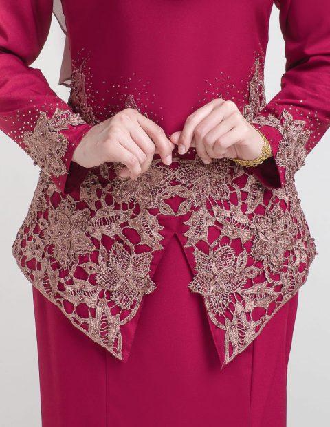 kurung moden pendek lace