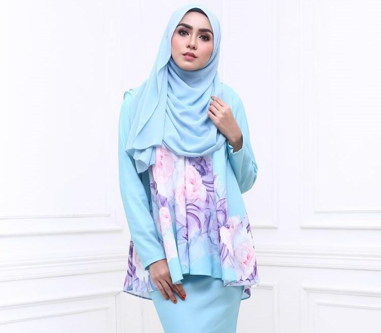 Design Baju Raya Artis : Missdoll blue baju kurung moden terkini