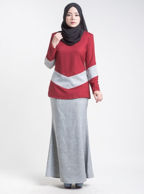 kurung moden mini red Aimie