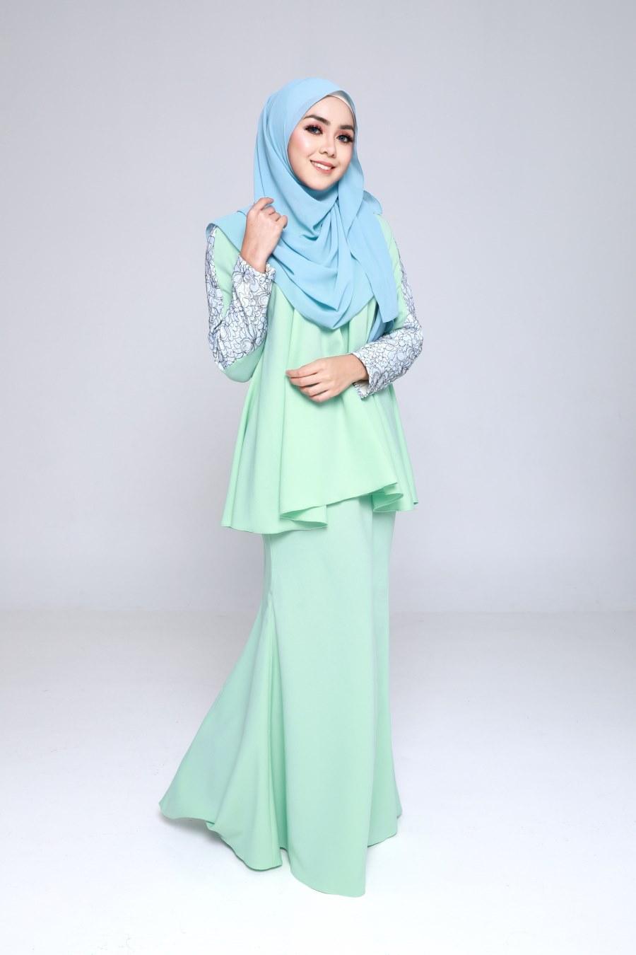 baju pengantin warna hijau turquoise baju kurung warna