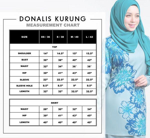 size chart donalis