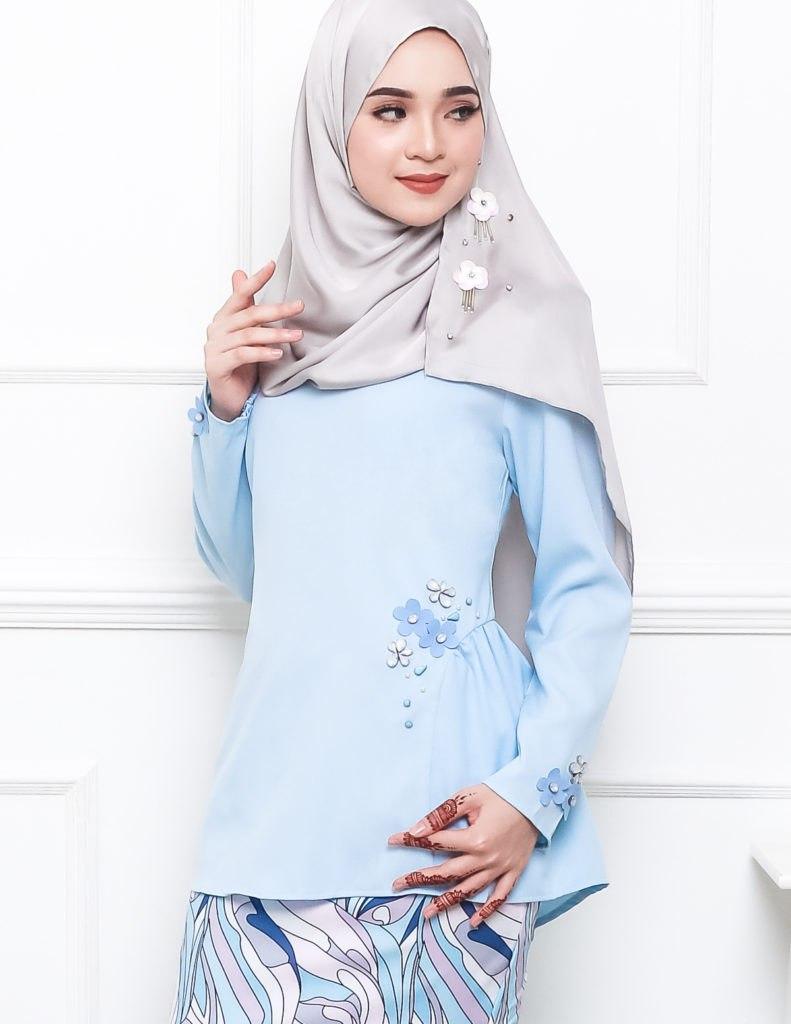 Baby Blue And Grey Bedroom: Baju Kurung Moden Pandora Pucci Baby Blue