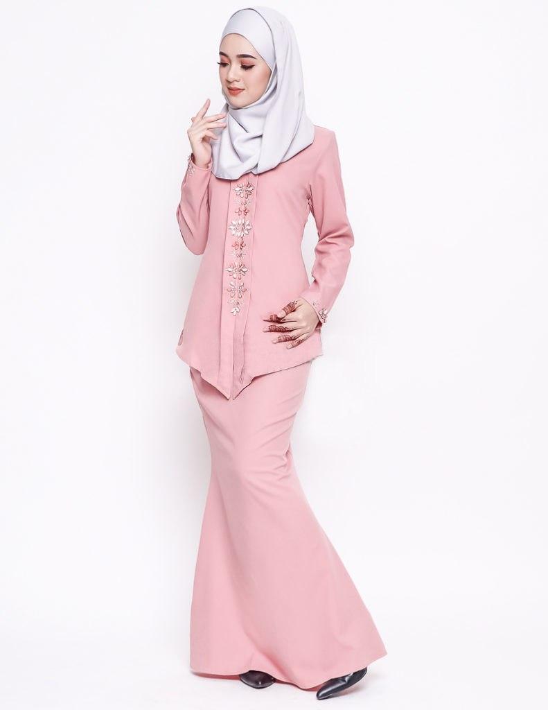 Wohnzimmermbel Modern Modell : Baju kurung moden alyah dusty pink lovelysuri