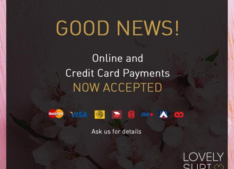 Kini Kami Terima Online Banking dan Kad Kredit
