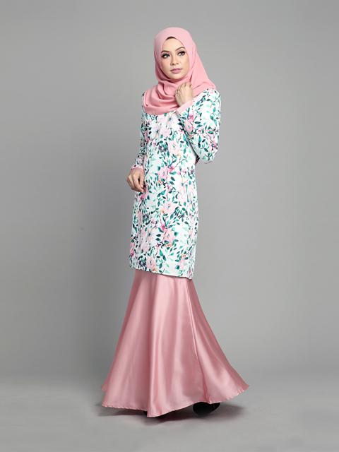 Baju Kurung Moden Arielle Pink Blush